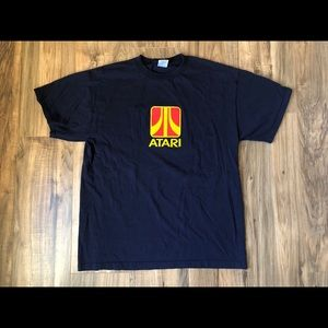 Atari Men's Size Large T Shirt Logo Blue